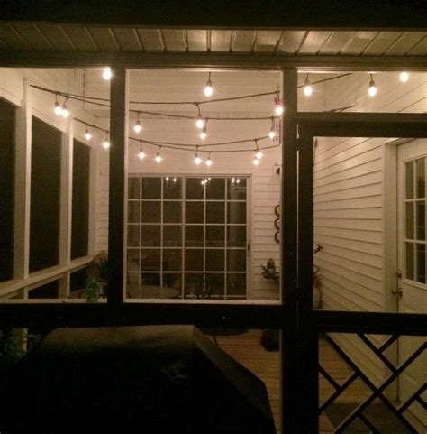 What Do Green Porch Lights by The Easiest Way To Hang String Lights On A Screened Porch