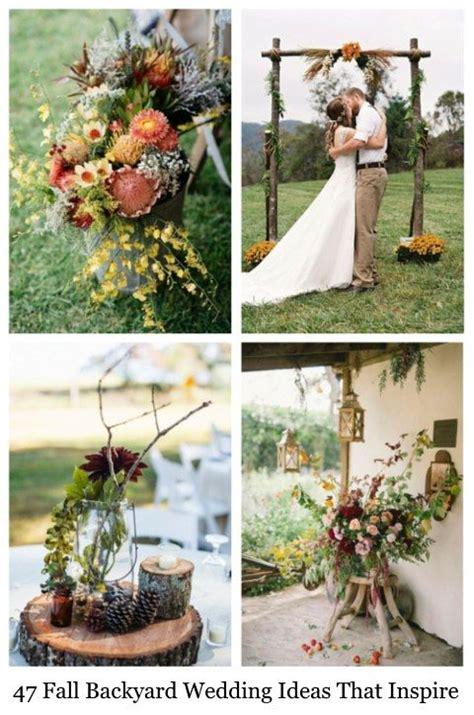 47 Fall Backyard Wedding Ideas That Inspire Happyweddcom
