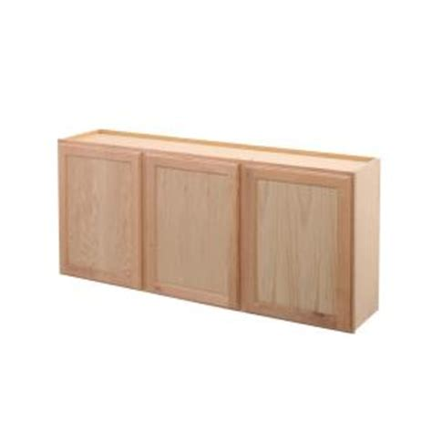 unfinished oak kitchen cabinets home depot assembled 54x24x12 in wall kitchen cabinet in unfinished 9547