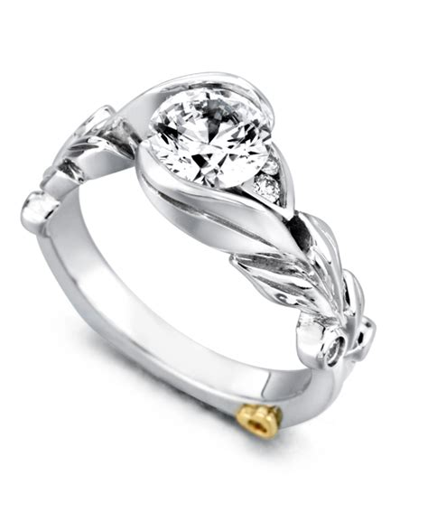 fusion floral engagement ring schneider design