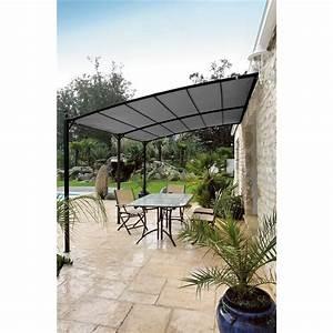 Toile De Jardin : toile de tonnelle privilege adossee 3x4 gris kh25 1 jardin piscine ~ Teatrodelosmanantiales.com Idées de Décoration