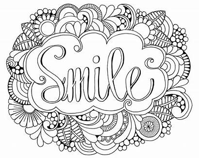 Coloring Pages Smile Drawing Adult Mandala Sheets