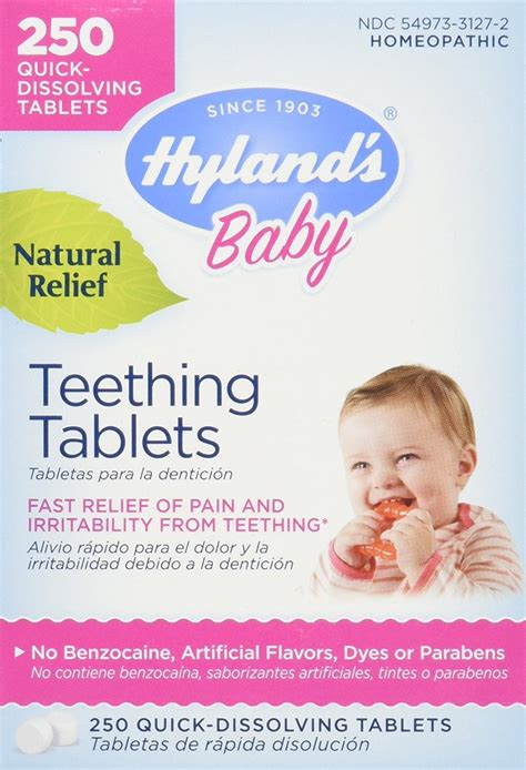 Hylands Homeopathic Baby Natural Relief Teething Tablets
