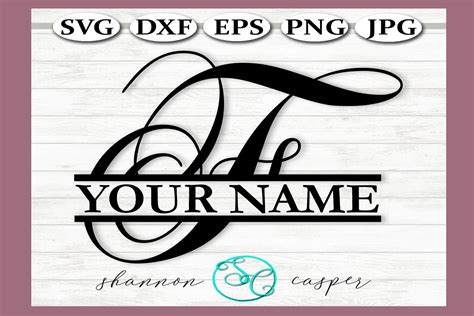 *monogram font not included what you'll get ~ svg, dxf, eps, jpeg, png & studio files for these files to work, you must know. SVG Split Monogram Full Alphabet Set (291402) | Cut Files ...
