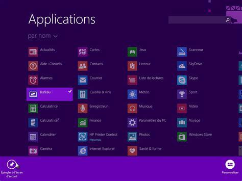 comment faire apparaitre les icones sur le bureau windows 8 1 ajouter des vignettes dans l 39 écran d 39 accueil