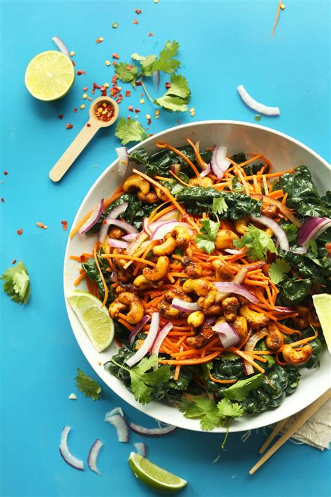 thai carrot salad  curried cashews carrot salad