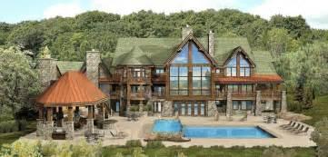Luxury Log Home Designs by Gallery For Luxury Log Cabin Floor Plans