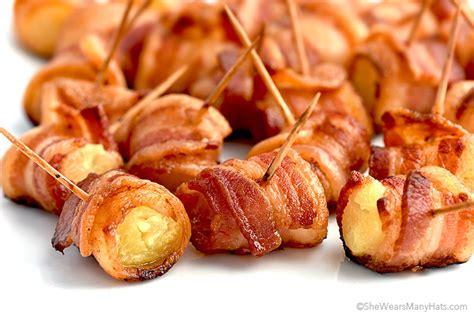 bacon wrap recipes bacon wrapped pineapple bites recipe she wears many hats