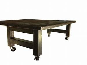 Casters with oversized metal coffee table legs set diy for Coffee table legs with wheels