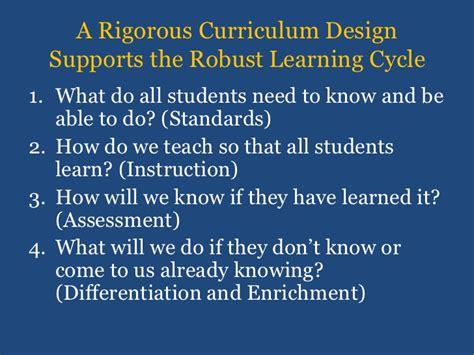 Exceptional Student Services Rigorous Curriculum Design