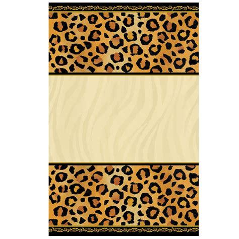 printable cheetah birthday invitations  printable