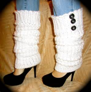 White Crochet Leg Warmers