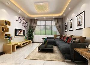 Living room interior decoration wall Download 3D House