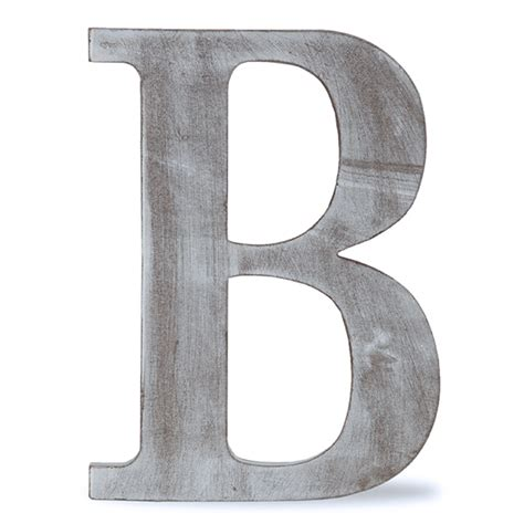 b block letter wood block letter charcoal grey 24in b the lucky 33779
