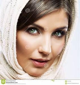 Woman Face Close Up Beauty Portrait. Female Model Poses ...