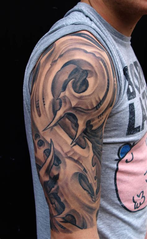 amazing biomechanical tattoos design feed inspiration