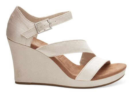 Wedge Shoes : Toms Champagne Grosgrain Women's Clarissa Wedges
