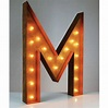 """36"""" Letter M Lighted Vintage Marquee Letters (Rustic ..."""
