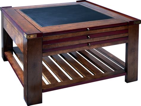 Game Table  Red Finish