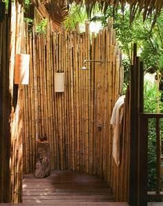 Bambus Im Garten : sichtschutz f r gartendusche 35 tolle beispiele ~ Michelbontemps.com Haus und Dekorationen