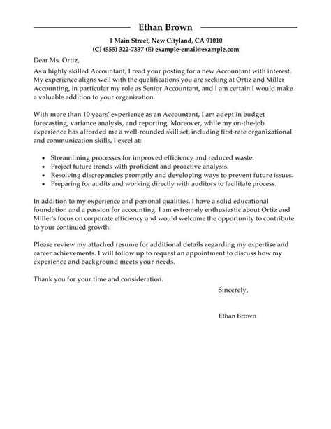 accountant cover letter examples livecareer