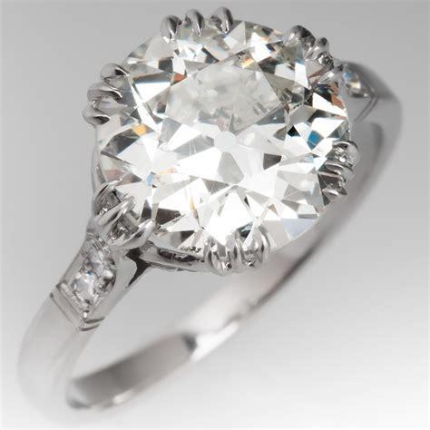 crown motif engagement ring platinum 3 carat