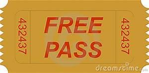Ticket Free Pass Royalty Free Stock Image - Image: 3827286