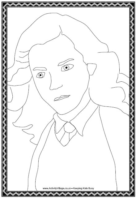 hermione granger colouring page