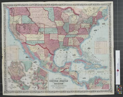 map   united states  mexico  portal  texas