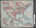 Map of the United States and Mexico. - The Portal to Texas ...
