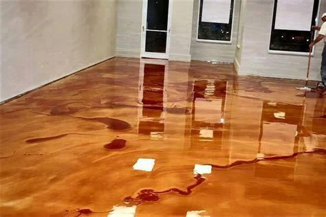 DIY Metallic Epoxy Floor   The Perfect DIY