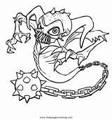 Skylanders Coloring Trigger Happy sketch template