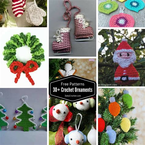 30+ Cute Free Crochet Christmas Ornaments Patterns To