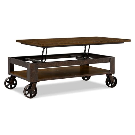 shortline lift top cocktail table  city furniture