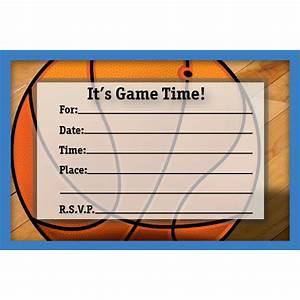 Free Printable Basketball Birthday Invitations