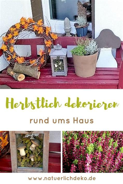 Herbstdeko Gartenbank by Herbstdeko F 252 R Den Vorgarten Und Blumenk 228 Sten Nat 252 Rlich