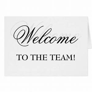 Welcome To The Team! Card | Zazzle