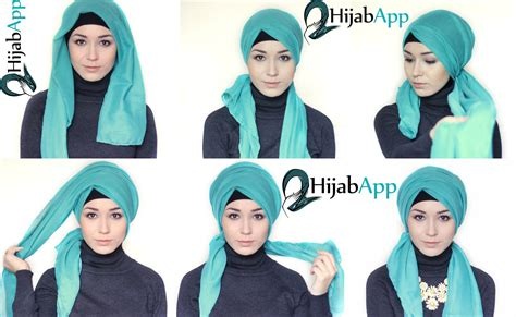 hijab app turban tutorial side  wrap  youtube