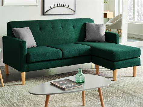 sofa verden sof 225 de canto em tecido verde auma
