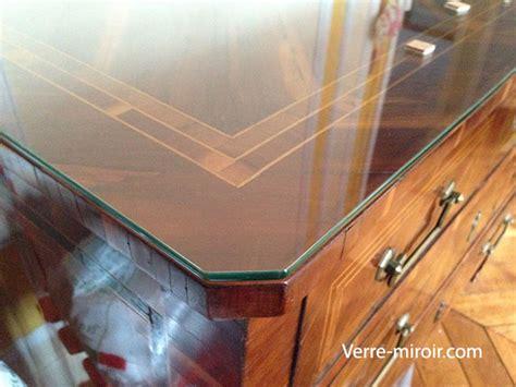 plaque de verre pour bureau protection de table en verre trempe