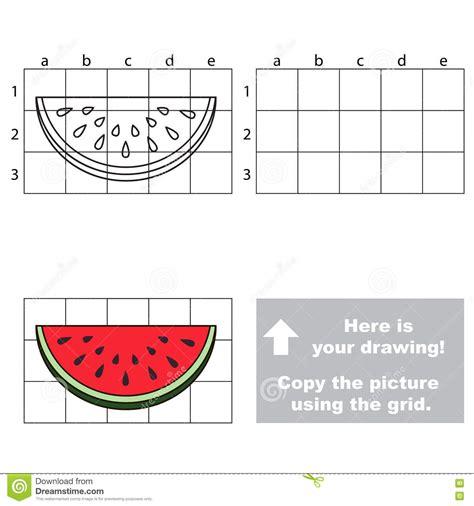 copy  image  grid watermelon slice stock vector