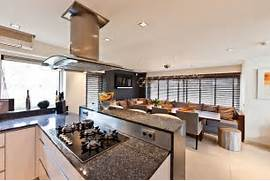 Modern Open Space Natural House Design Open Space Kitchen And Dining Area