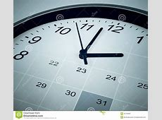 Calendar And Clock Face Time Manager And Agenda Stock