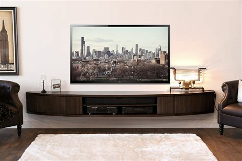Interior Design. Simple TV Stand For Wall Mounted TV Ideas