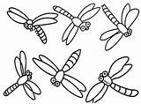 Dragonfly Coloring Pages Dragonflies Printable Cartoon Drawing Simple Dragon Flies Clipart Colouring Cliparts Clip Fly Realistic Drawings Insect Popular Hummingbirds sketch template