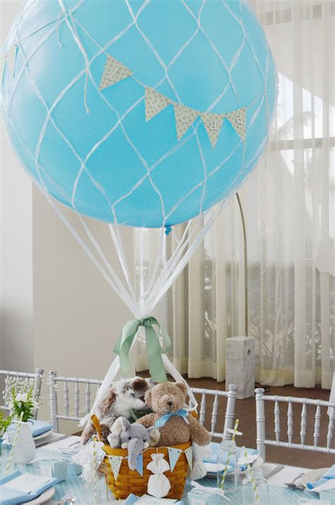 Hot Air Balloon Centerpieces For A Baby Boy Shower By Yg