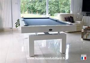 billard table billard contemporain arcade laque blanc With tapis moderne avec canapé ignifugé pour collectivité