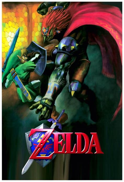 You are so sad to see zelda so scared but at least pleased you managed to trick gannondorf into taking your ocarina instead. Ocarina of Time Ganondorf Battle Poster 13x19