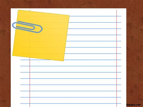 notebook paper powerpoint template  highest quality