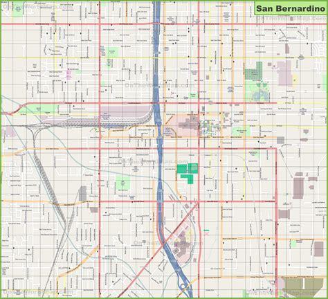 large detailed map  san bernardino
